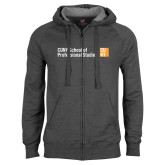 CUNY School of Prof Studies Charcoal Fleece Full Zip Hoodie-