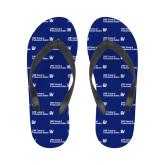 Ladies Full Color Flip Flops-CUNY SPS Two Line