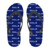 Full Color Flip Flops-CUNY SPS Two Line