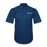 CUNY School of Prof Studies Navy Twill Button Down Short Sleeve-