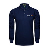 CUNY School of Prof Studies Navy Long Sleeve Polo-