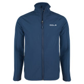 Navy Softshell Jacket-CUNY SPS Two Line