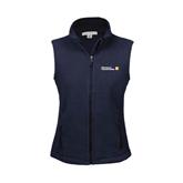 Ladies Fleece Full Zip Navy Vest-