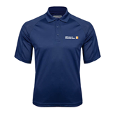 CUNY School of Prof Studies Navy Textured Saddle Shoulder Polo-