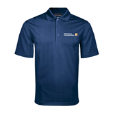 CUNY School of Prof Studies Navy Mini Stripe Polo-