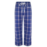 Royal/White Flannel Pajama Pant-CUNY SPS Two Line