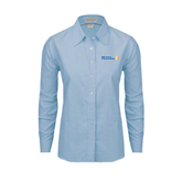 CUNY School of Prof Studies Ladies Light Blue Oxford Shirt-