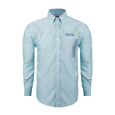 CUNY School of Prof Studies Mens Light Blue Oxford Long Sleeve Shirt-