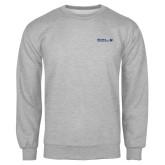 Grey Fleece Crew-CUNY SPS Two Line