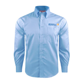 CUNY School of Prof Studies Red House Light Blue Dobby Long Sleeve Shirt-