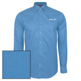 Red House Light Blue Dobby Long Sleeve Shirt-CUNY SPS Two Line