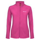 Ladies Fleece Full Zip Raspberry Jacket-CUNY SPS Two Line