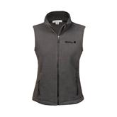 Ladies Fleece Full Zip Charcoal Vest-