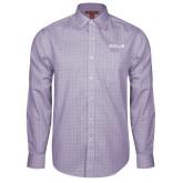 Red House Purple Plaid Long Sleeve Shirt-CUNY SPS Two Line