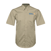 CUNY School of Prof Studies Khaki Twill Button Down Short Sleeve-