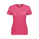 Ladies Fuchsia T Shirt-