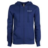 ENZA Ladies Royal Fleece Full Zip Hoodie-CUNY SPS Two Line