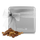 Deluxe Nut Medley Silver Medium Tin-CUNY SPS Two Line Engraved