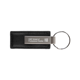 Leather Classic Black Key Holder-Engraved