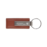 Leather Classic Brown Key Holder-Engraved