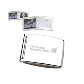 Silver Bifold Frame w/Calendar-Engraved