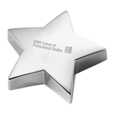 Silver Star Paperweight-Engraved