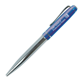 Allegro Blue Twist Pen-Engraved