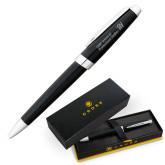 Cross Aventura Onyx Black Ballpoint Pen-CUNY SPS Two Line Engraved