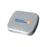 CUNY School of Prof Studies Silver Rectangular Peppermint Tin-