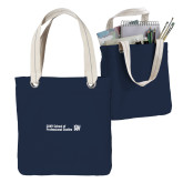 Allie Navy Canvas Tote-CUNY SPS Two Line