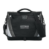Slope Black/Grey Compu Messenger Bag-Guttman Community College Word Mark