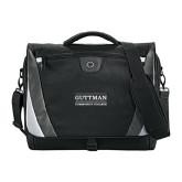 Slope Compu Black/Grey Messenger Bag-Guttman Community College Word Mark