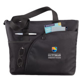 Excel Black Sport Utility Tote-Guttman Community College w/ Shield