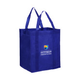 Non Woven Royal Grocery Tote-Guttman Community College w/ Shield