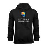 Black Fleece Hood-Guttman Community College w/ Shield