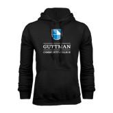 Black Fleece Hood-Guttman Community College Striped Shield