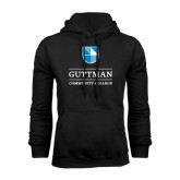 Community College Black Fleece Hoodie-Guttman Community College Striped Shield