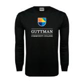 Black Long Sleeve TShirt-Guttman Community College w/ Shield