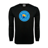 Black Long Sleeve TShirt-Circle Logo