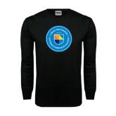 Black Long Sleeve TShirt-Circle Logo