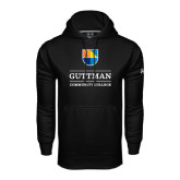 Community College Under Armour Black Performance Sweats Team Hoodie-Guttman Community College w/ Shield
