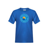 Youth Royal T Shirt-Circle Logo