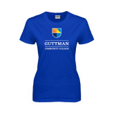 Ladies Royal T Shirt-Guttman Community College w/ Shield