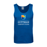 Royal Tank Top-Guttman Community College w/ Shield