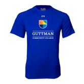 Under Armour Royal Tech Tee-Guttman Community College w/ Shield