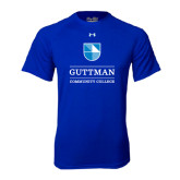Under Armour Royal Tech Tee-Guttman Community College Striped Shield