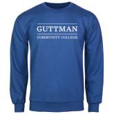 Community College Royal Fleece Crew-Guttman Community College Word Mark