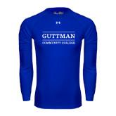 Under Armour Royal Long Sleeve Tech Tee-Guttman Community College Word Mark