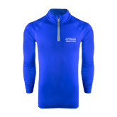 Under Armour Royal Tech 1/4 Zip Performance Shirt-Guttman Community College Word Mark