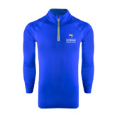 Community College Under Armour Royal Tech 1/4 Zip Performance Shirt-Guttman Community College w/ Shield